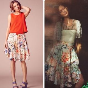 Anthropologie Ranna Gill jardin skirt